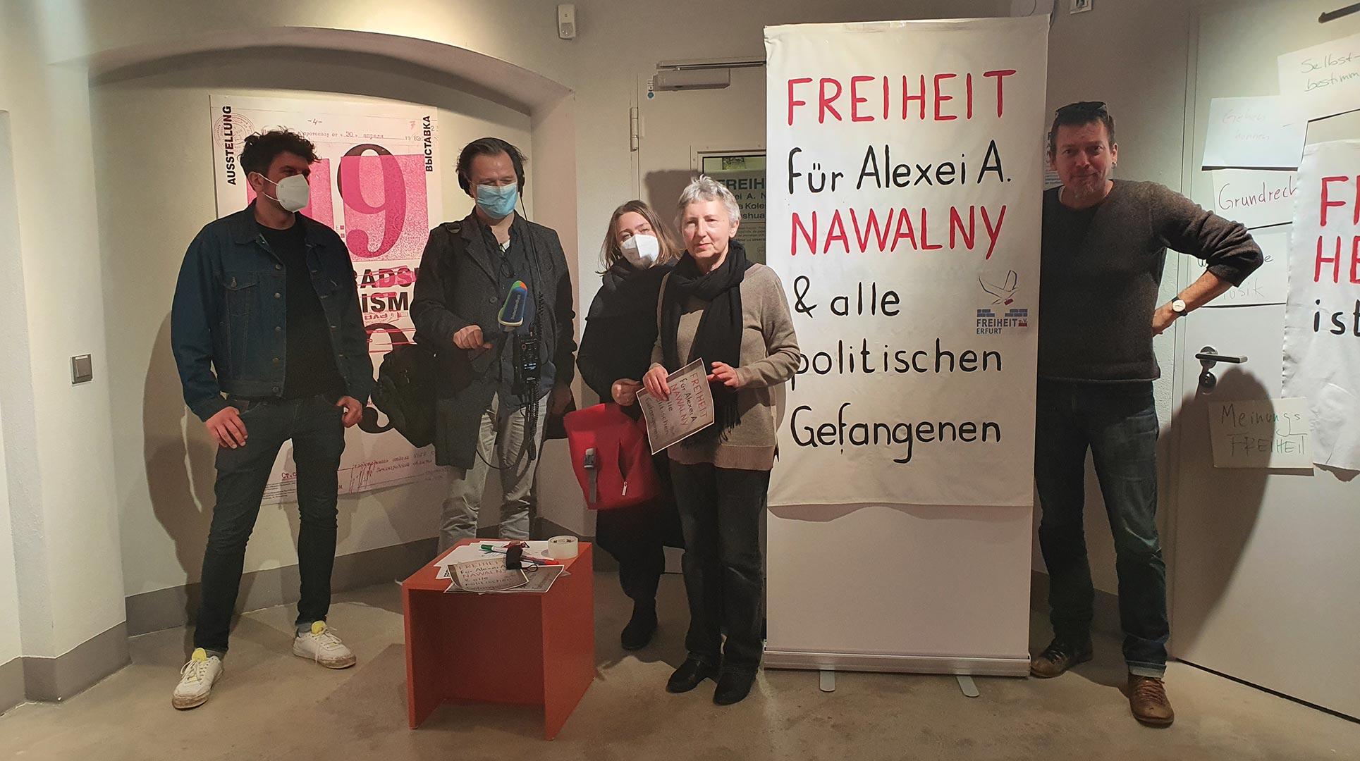 Spontane Aktion - Aktion Freiheit fuer Nanawalny.