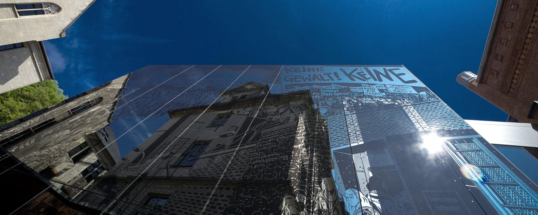 Andreasstrasse Erfurt Spiegelung Fassade