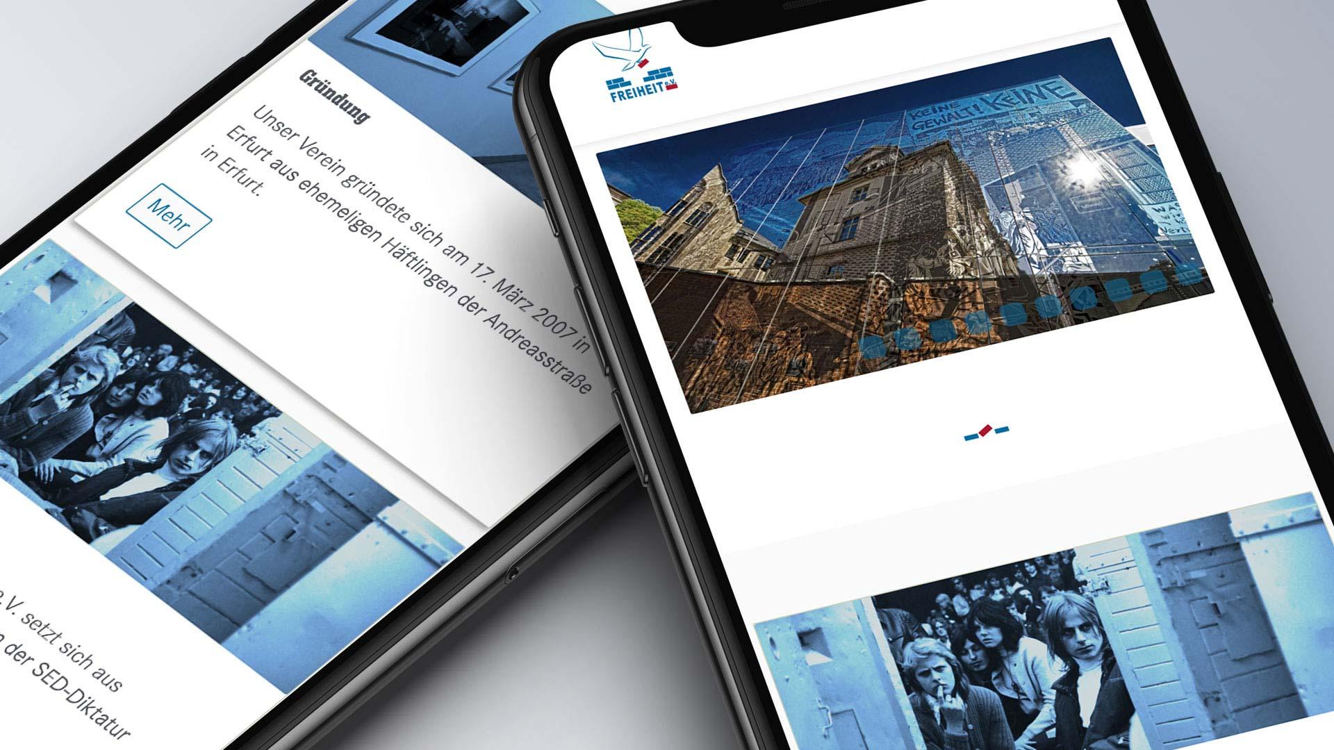 Relaunch unserer Vereinshomepage - Webrelauch Gedenkstaette Andreasstrasse Erfurt | Werbeagentur HOFMEISTER HIESTAND Karlsruhe