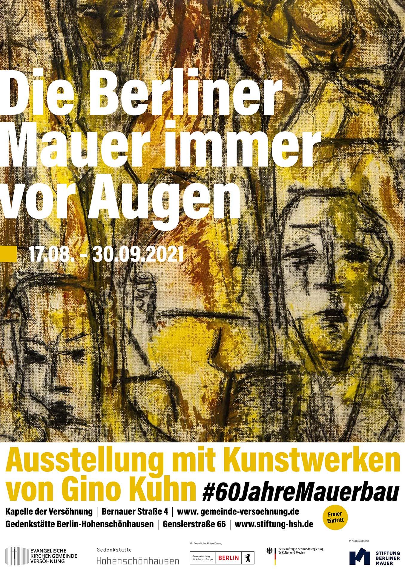 """""""Die Berliner Mauer immer vor Augen."""" - Ausstellungsplakat Die Berliner Mauer immer vor Augen"""