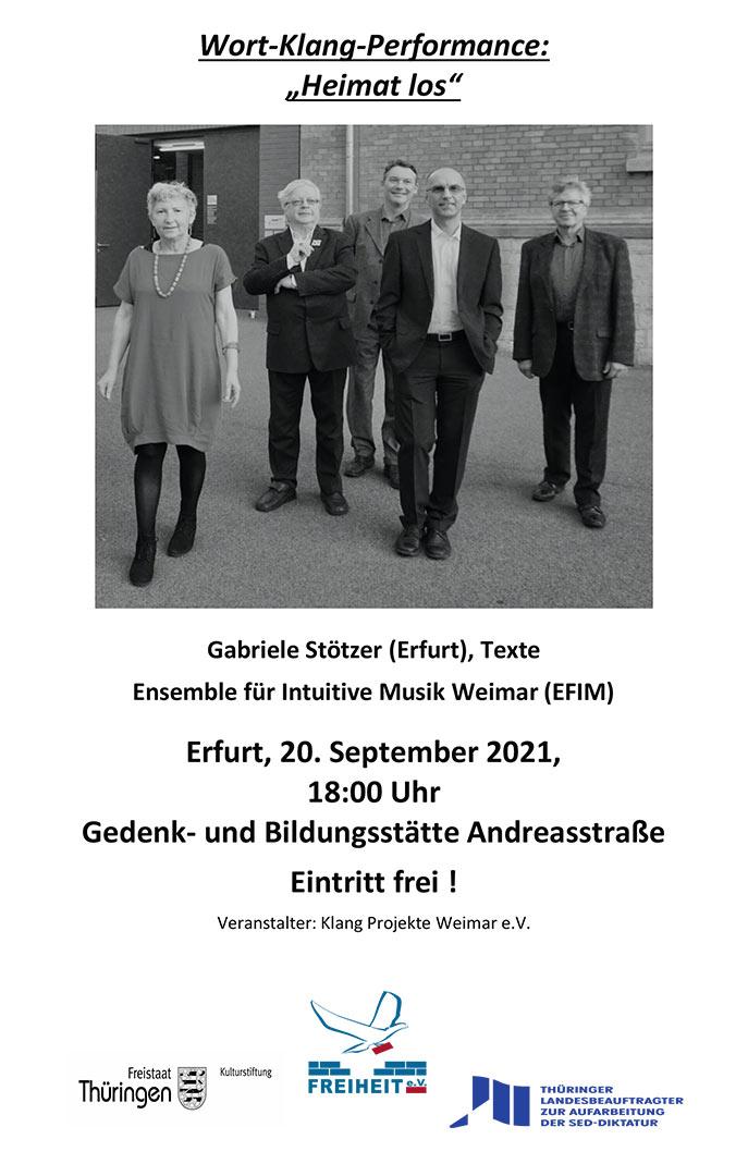 "Wort-Klang-Performance ""Heimat los"" - Heimat los Wort-Klang-Performance"